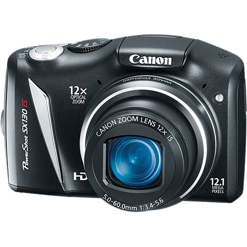 Canon PowerShot SX130 IS Digital Camera (Black)