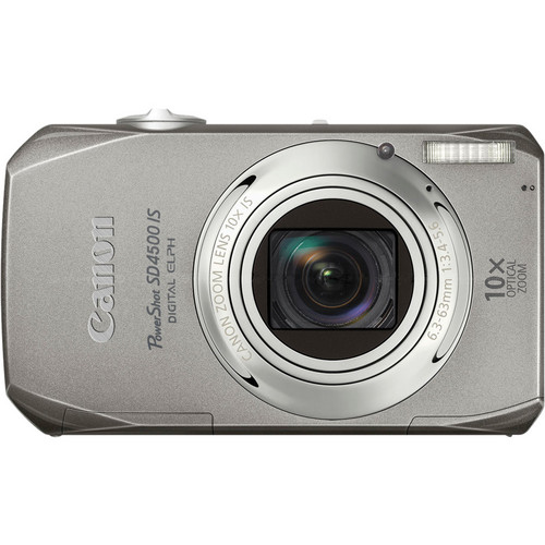 Canon PowerShot SD4500 IS Digital ELPH Camera (Silver)
