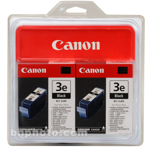 Canon BCI-3eBk Black Ink Tank Twin Pack