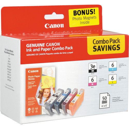 Canon BCI-3e6 Multipack with GP502 Photo Paper