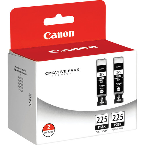 Canon PGI-225 Black Ink Cartridge Twin Pack