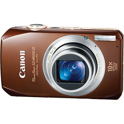 Canon PowerShot SD4500 IS Digital ELPH Camera (Brown)