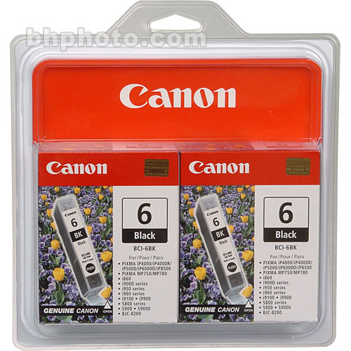 Canon BCI-6BK Black Ink Tank Twin Pack