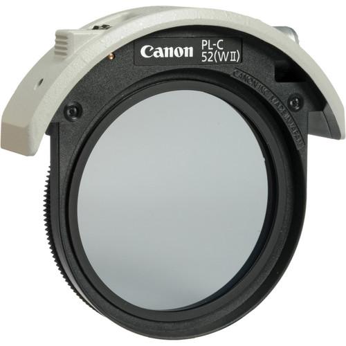 Canon PL-C 52WII 52mm Drop-In Circular Polarizing Filter