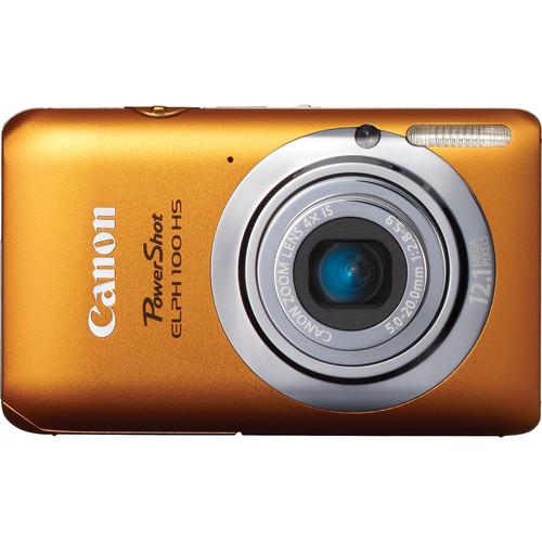 Canon Powershot 100 HS Digital ELPH Camera (Orange)