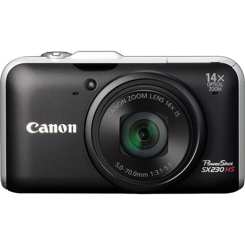 Canon Powershot SX230 HS Digital Camera (Black)