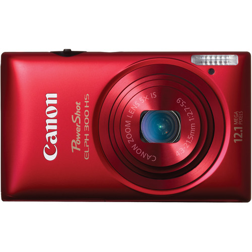 Canon Powershot 300 HS Digital ELPH Camera (Red)