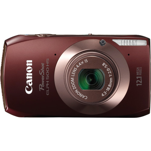 Canon Powershot 500 HS Digital ELPH Camera (Brown)