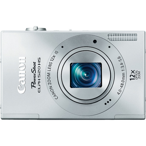 Canon PowerShot ELPH 520 HS Digital Camera (Silver)