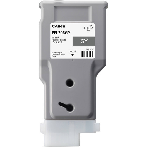 Canon PFI-206 Gray Ink Cartridge (300 ml)