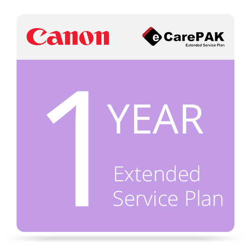 Canon 1-Year CarePAK Extended Service Plan For Select imageFORMULA Scanners