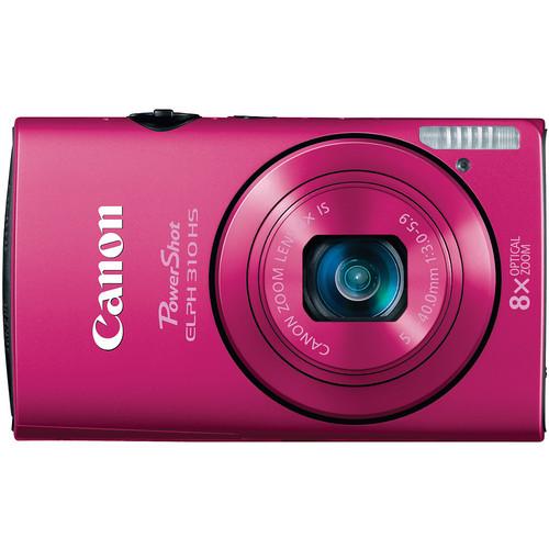 Canon PowerShot ELPH 310 HS Digital Camera (Pink)