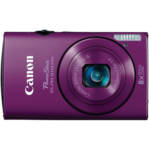 Canon PowerShot ELPH 310 HS Digital Camera (Purple)