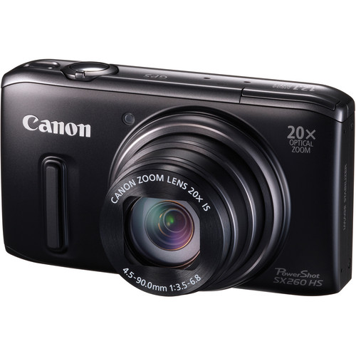 Canon PowerShot SX260 HS Digital Camera (Black)