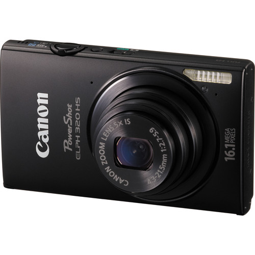 Canon PowerShot ELPH 320 HS Digital Camera (Black)