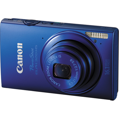 Canon PowerShot ELPH 320 HS Digital Camera (Blue)