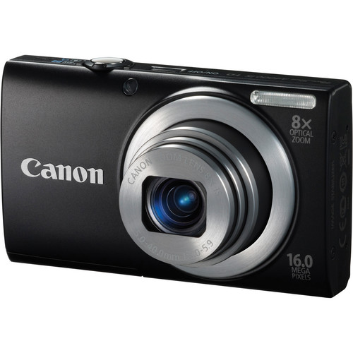 Canon PowerShot A4000 IS Digital Camera (Black)