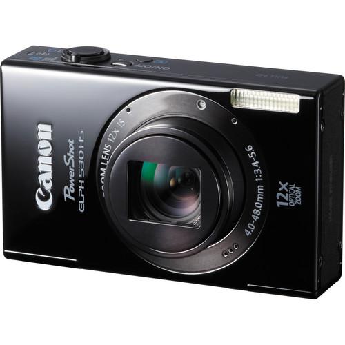 Canon PowerShot ELPH 530 HS Digital Camera (Black)
