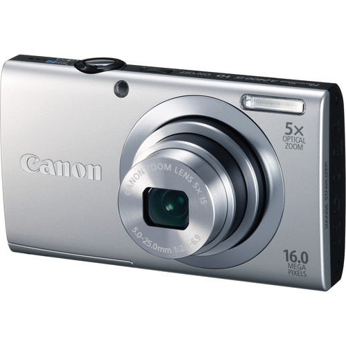 Canon PowerShot A2400 IS Digital Camera (Silver)