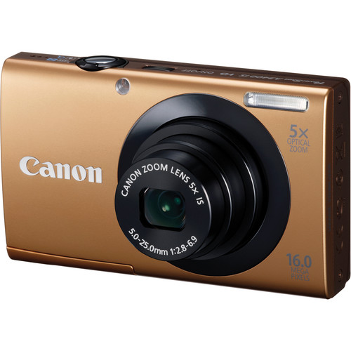 Canon PowerShot A3400 IS Touch Screen Digital Camera (Gold)