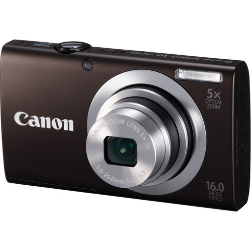 Canon PowerShot A2400 IS Digital Camera (Black)