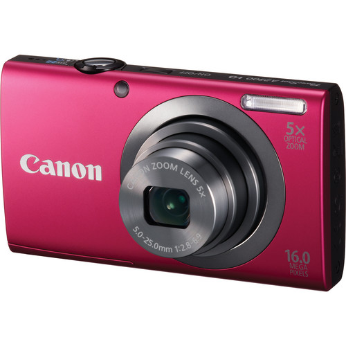 Canon PowerShot A2300 Digital Camera (Red)