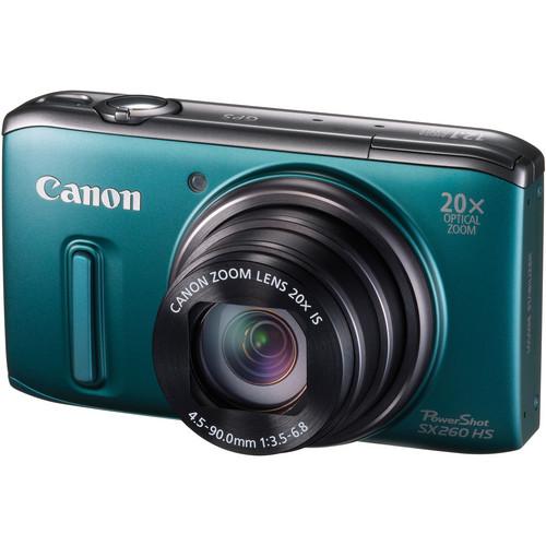 Canon PowerShot SX260 HS Digital Camera (Green)