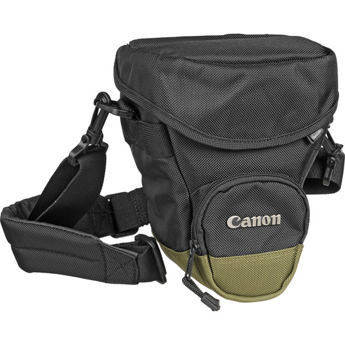 Canon Zoom Pack 1000 Holster-Style Bag (Black/Olive Green Trim)