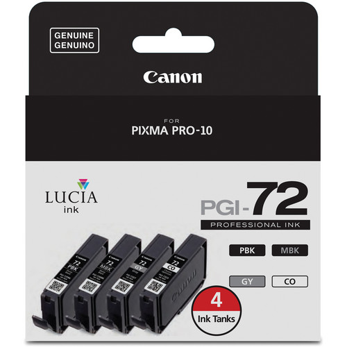 Canon LUCIA PGI-72 Ink Tank Value Pack with Chroma Optimizer