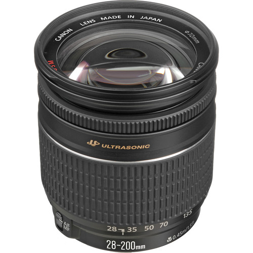 Canon Zoom Wide Angle-Telephoto EF 28-200mm f/3.5-5.6 USM Autofocus Lens