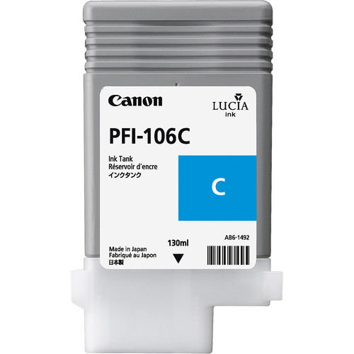 Canon PFI-106 Cyan Ink Cartridge (130 ml)