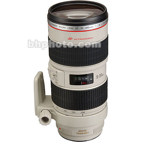 Canon 70-200mm f/2.8L IS USM AF Lens Kit, with LensCoat White Lens Cover & Hoodie