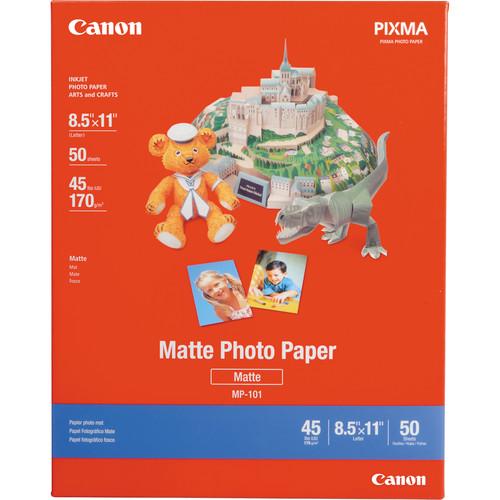 "Canon Photo Paper (Matte) for Inkjet - 8.5x11"" (Letter) - 50 Sheets"