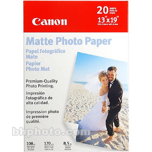 """Canon Matte Photo Paper - 13x19"""" - 20 Sheets"""