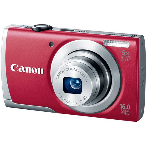 Canon PowerShot A2600 Digital Camera (Red)