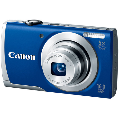 Canon PowerShot A2600 Digital Camera (Blue)