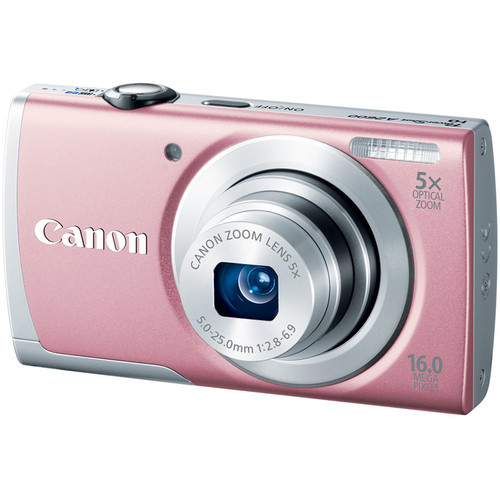 Canon PowerShot A2600 Digital Camera (Pink)