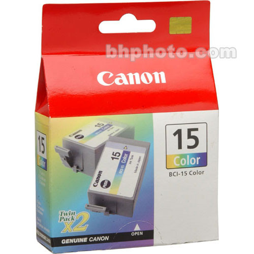 Canon BCI-15 Color Ink Tank Twin Pack