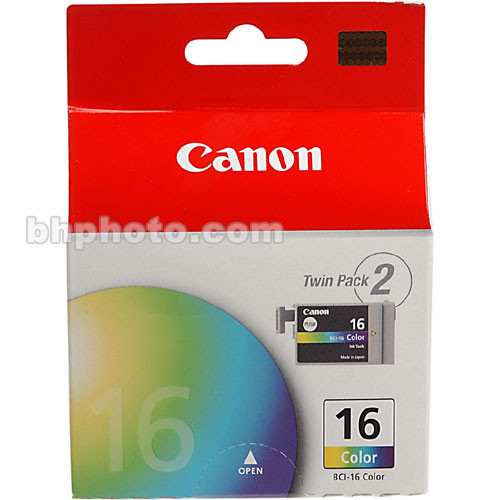Canon BCI-16 Tri-Color Ink Tank Twin Pack