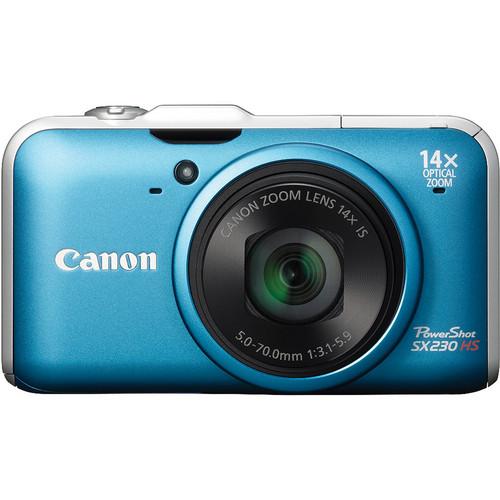 Canon Powershot SX230 HS Digital Camera (Blue)