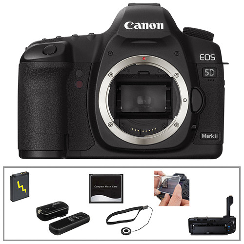 Canon EOS 5D Mark II Digital Camera (Body Only) with Basic Accessory Kit