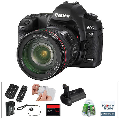 Canon EOS 5D Mark II DSLR & 24-105mm Lens with Basic Accessory Kit