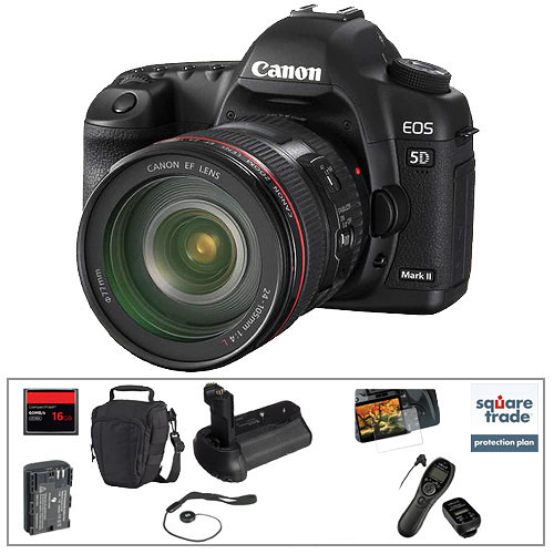 Canon EOS 5D Mark II DSLR with 24-105mm Lens & Deluxe Accessory Kit