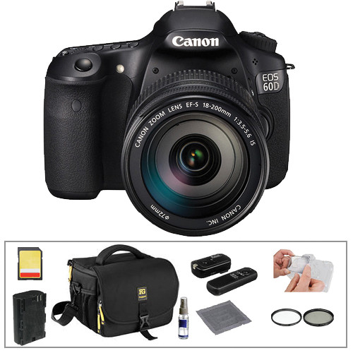 Canon EOS 60D DSLR Camera with 18-200mm Lens Basic Kit