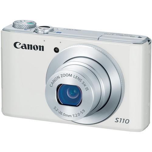 Canon PowerShot S110 Digital Camera (White)