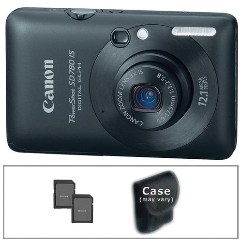 Canon PowerShot SD780 IS Digital Camera (Black) with Basic Accessory Kit