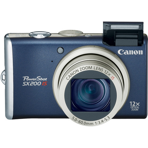 Canon PowerShot SX200 IS Digital Camera (Blue) with Basic Accessory Kit