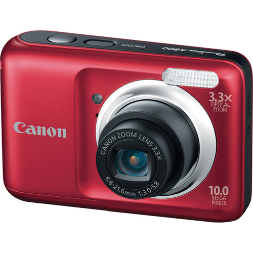 Canon PowerShot A800 Digital Camera (Red)