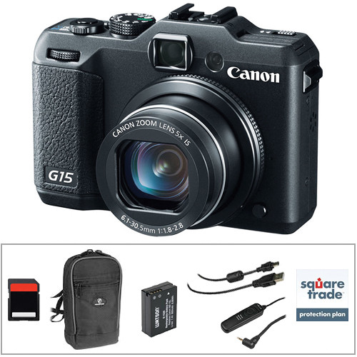 Canon powershot g15 digital camera with deluxe accessory for Housse canon g15