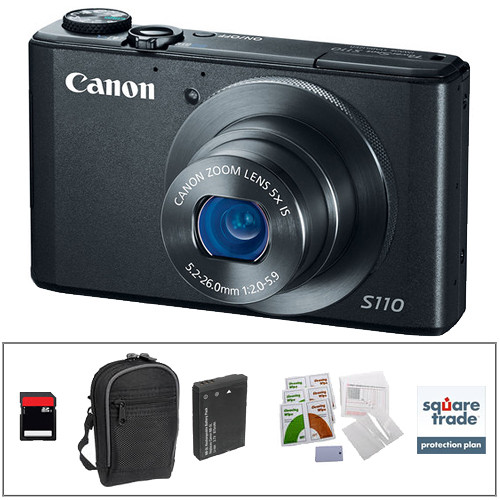 Canon PowerShot S110 Digital Camera Deluxe Kit (Black)